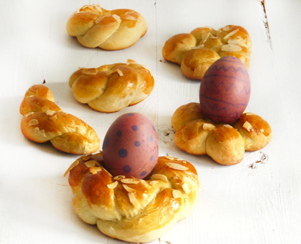 Wielkanocne bułeczki - wianuszki