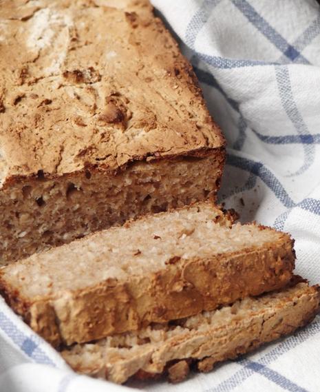 Chleb sezamowy na zakwasie (bez zagniatania)