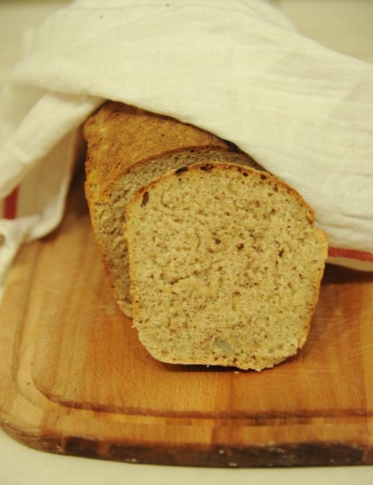 Chleb pełnoziarnisty na jogurcie z karmelizowaną cebulą