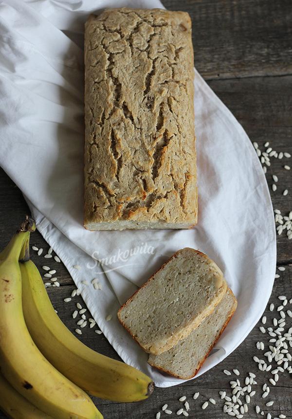 Ryżowo-bananowy chleb bezglutenowy