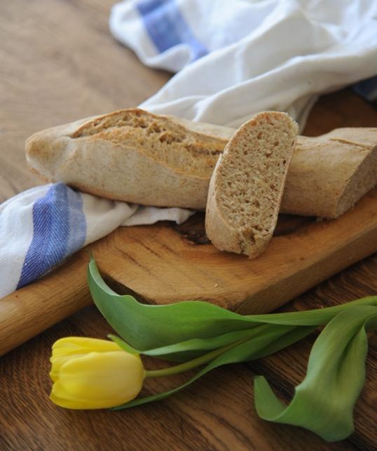 Bagietki na zaczynie pszennym