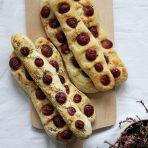 Paluchy chlebowe z winogronami