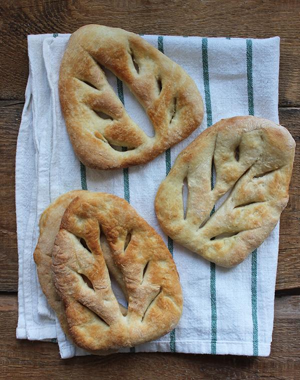 Chlebowe listki Fougasse