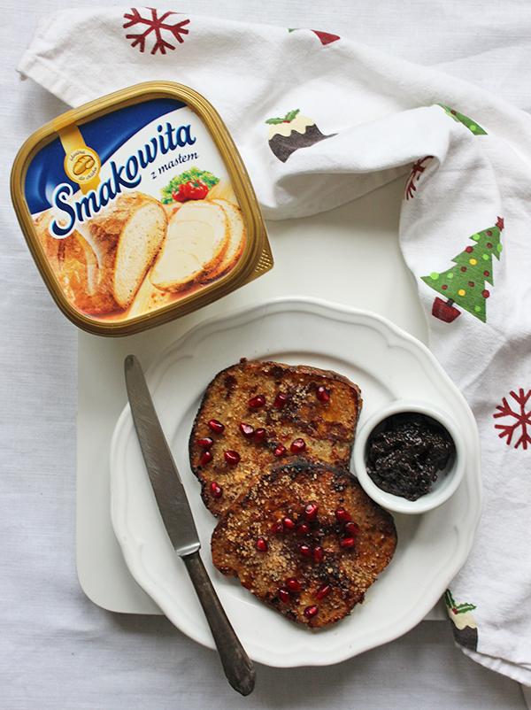 co zrobić z chleba - świąteczne tosty francuskie