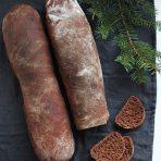 czekoladowa bagietka z marcepanem