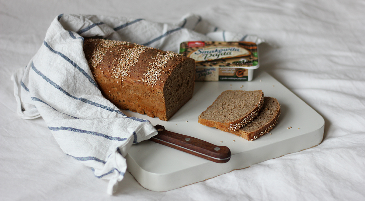 Chleb żytnio-orkiszowy na zakwasie z kaszą orkiszową