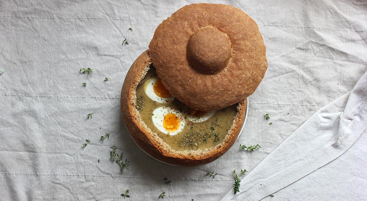Pełnoziarnisty chleb do żurku