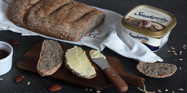 Chleb pszenno-gryczany na zaczynie poolish z kaszą gryczaną i ziarnami