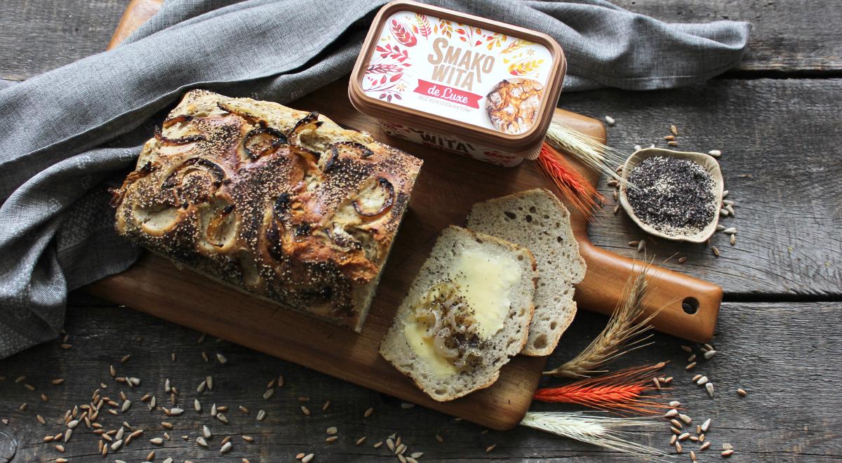 Cebulowy chleb pszenno-żytni na zakwasie